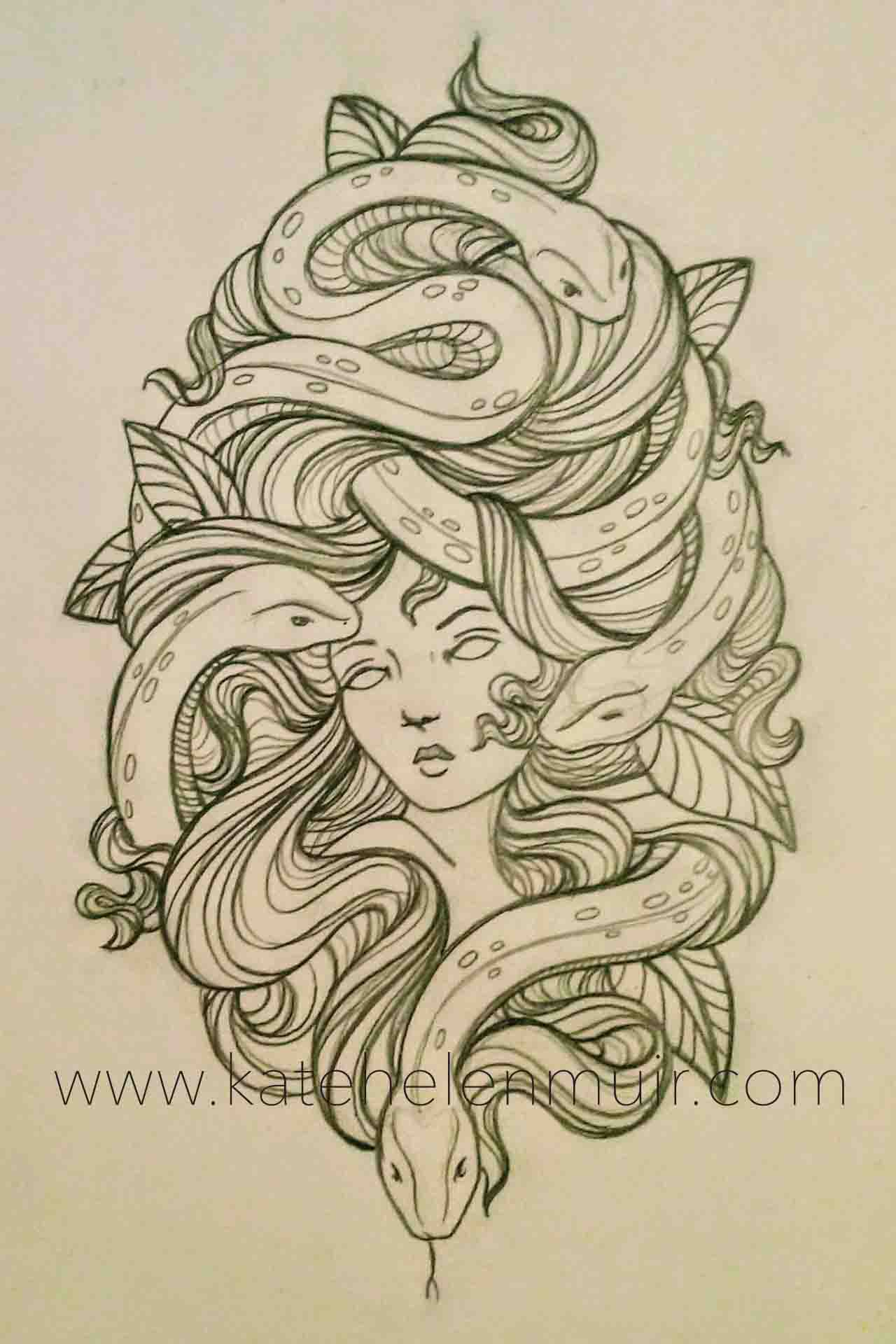 Medusa Tattoo Design Katehelenmuir