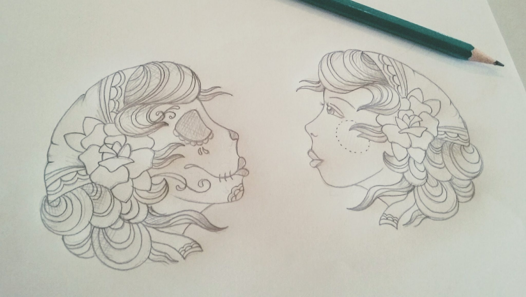 Hand Tattoos Initial Sketch Katehelenmuir